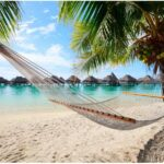 Dream beach on Moorea French Polynesia